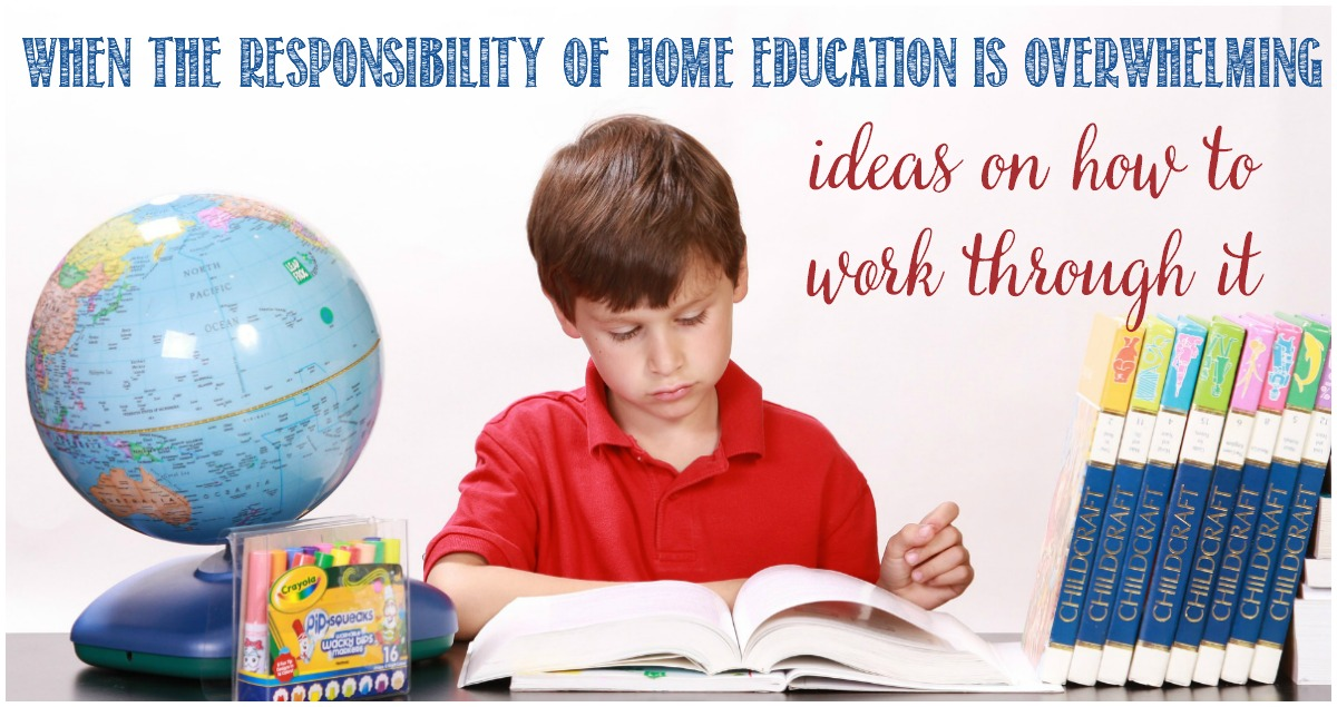 When homeschooling is overwhelming, how to overcome it, by Castle View Academy homeschool