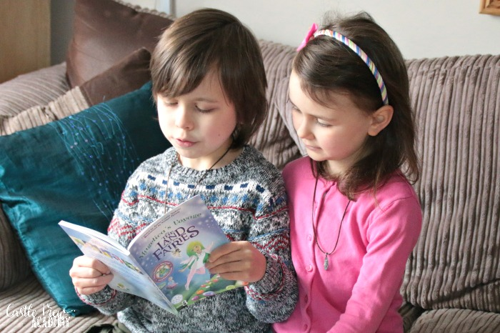 Castle View Academy homeschool reads Magelica's Voyage to the Land of the Fairies