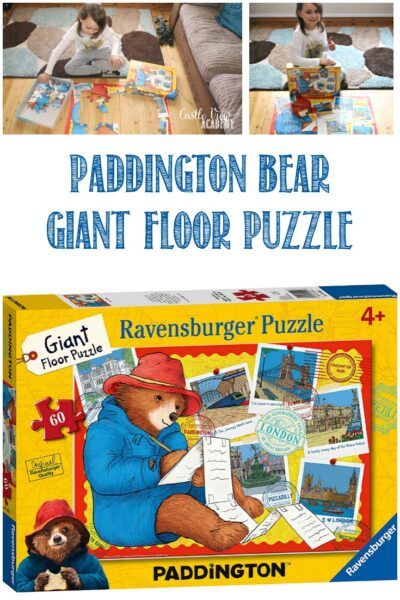 Castle View Academy homeschool reviews Paddigton Bear floor puzzle