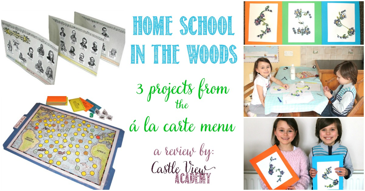 Castle View Academy reviews Home School In The Woods Á La Carte projects