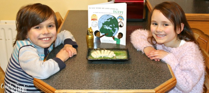 Castle View Academy tries Halawa while reading about life in Egypt