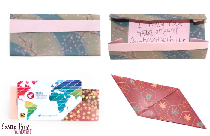 Castle View's Origami Gift Cards