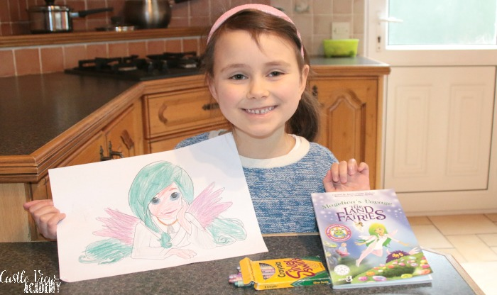 Magelica colouring at Castle View Academy homeschool