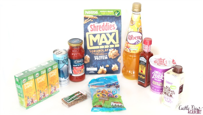 March Degustabox contents at Castle View Academy homeschool