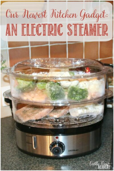 Our Newest Kitchen Gadget, An Electric Steamer at Castle View Academy