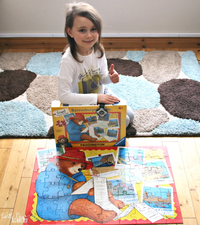 The completed Paddington Floor Puzzle at Castle View Academy