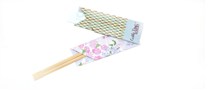 chopstick wrapper folded from Origami Gift Cards at Castle View Academy homeschool
