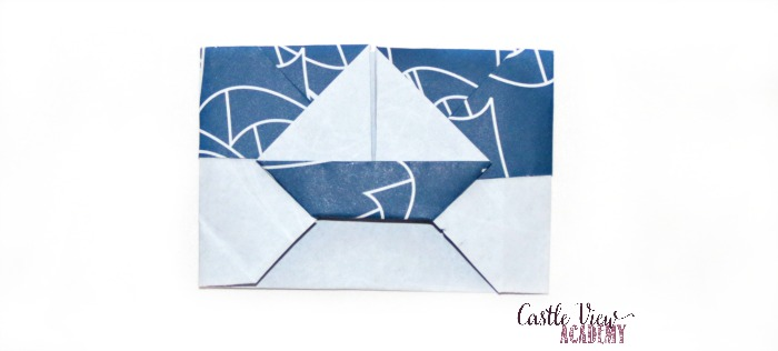 origami Sailboat gift card at Castle View Academy