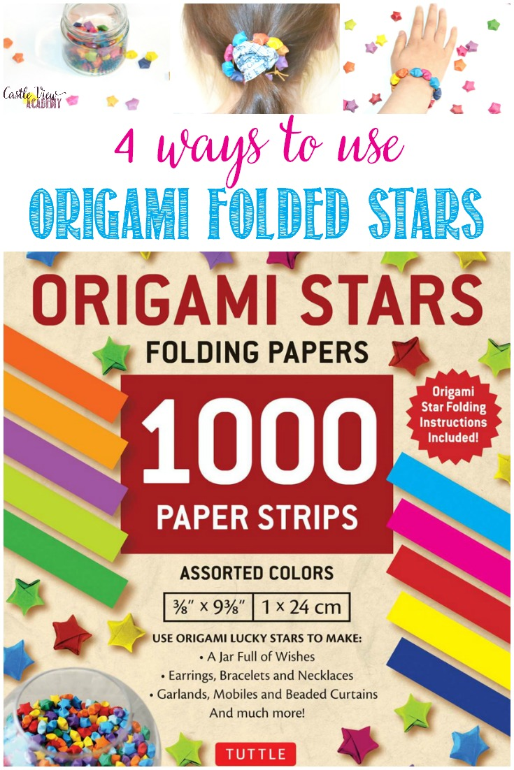 4 Projects For Origami Stars Folding Papers  #origami #paperfolding #kidscrafts