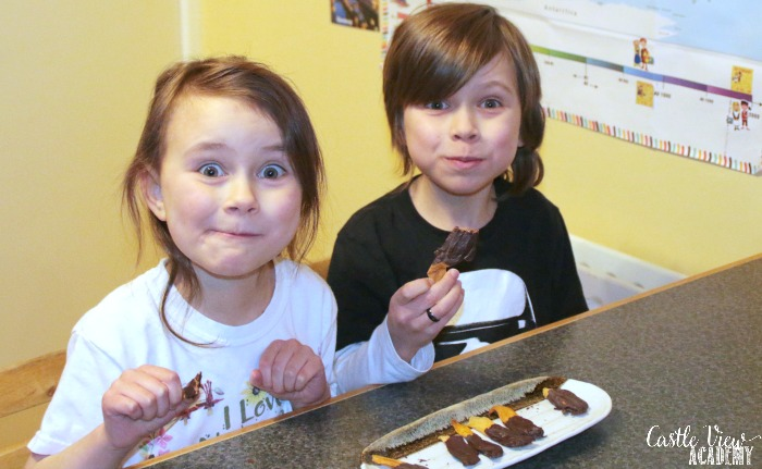 Castle View Academy thinks chocolate dipped mango is delicious
