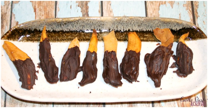 Chocolate Dipped Dried Mangoes by Castle View Academy homeschool