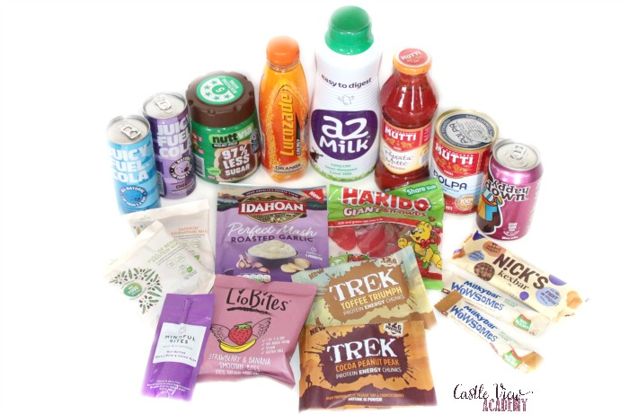 Contents of the April Degustabox at Castle View Academy