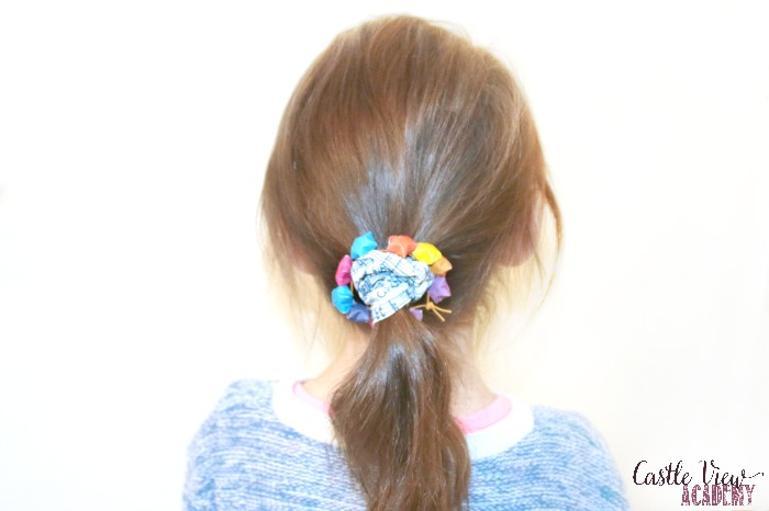 Folded star hair accessory at Castle View Academy homeschool