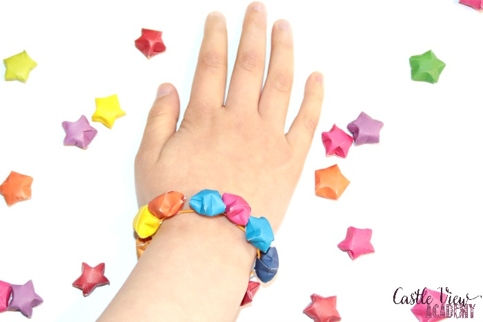 Folded start bracelet at Castle View Academy homeschool