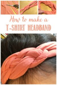 How to make a T-shirt headband at Castle View Academy homeschool