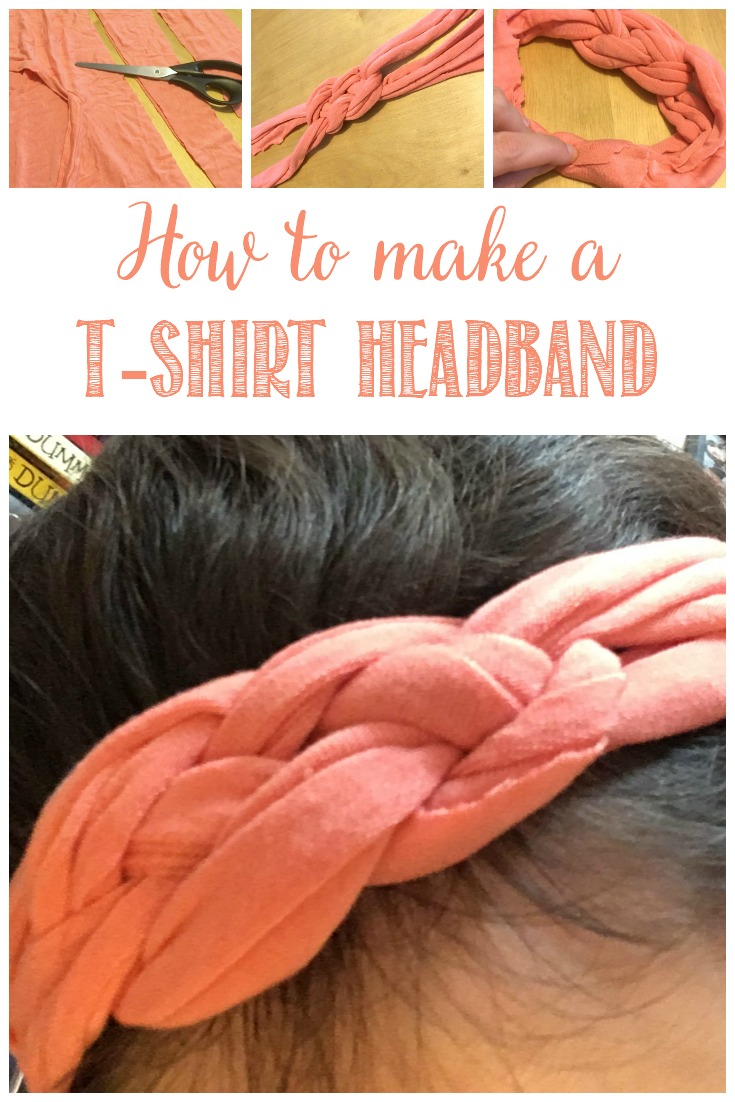 Make Your Own T-Shirt Headband with this easy step-by-step tutorial #upcycle #summerfashion #mkbkids #kbnmoms