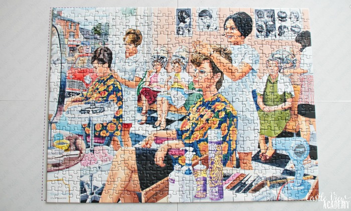 The Hairdresser puzzle is finished at Castle View Academy homeschool