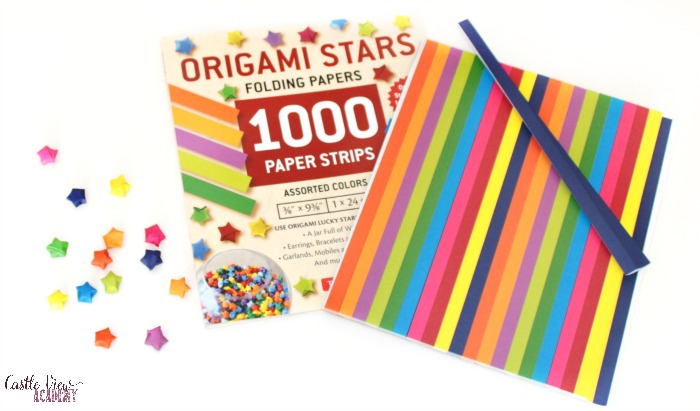 Tuttle Publishing's Origami Stars Folding Papers at Castle View Academy homeschool