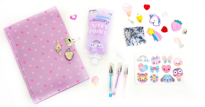 contents of the diy keep safe journal kit