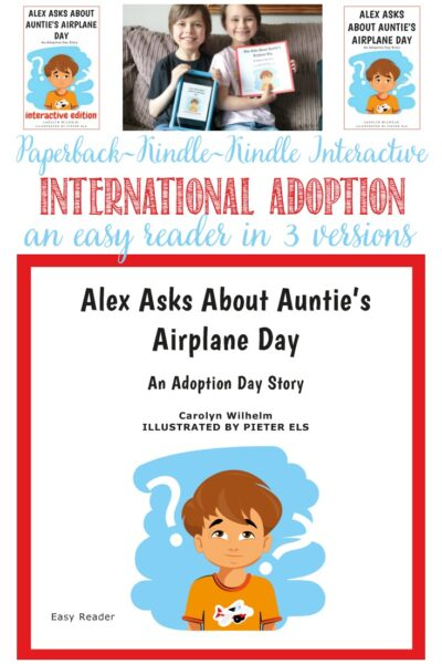 Alex Asks About Auntie's Airplane Day, An Adoption Story reviewed by Castle View Academy