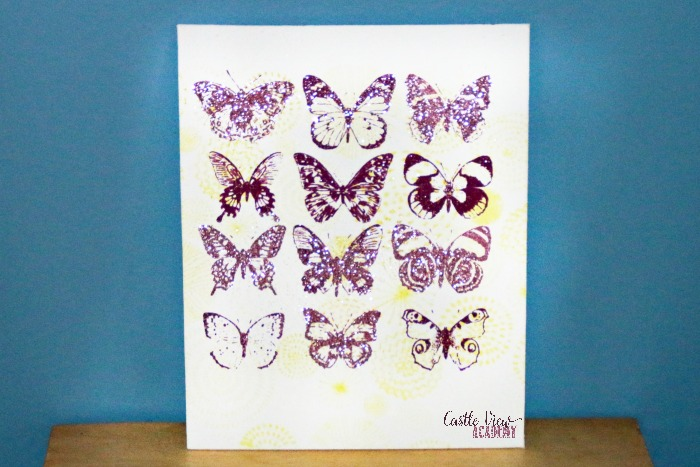 Butterflies on canvas at Castle View Academy homeschool