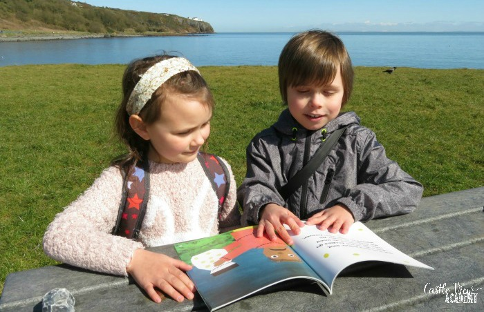 Castle View Academy reads Ibi's Fireflies along the County Antrim Coast of Northern Ireland