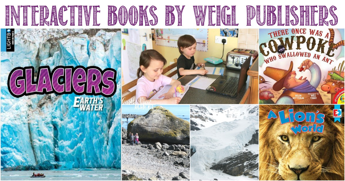 Interactive books by Weigl Publishers reviewed by Castle View Academy homeschool