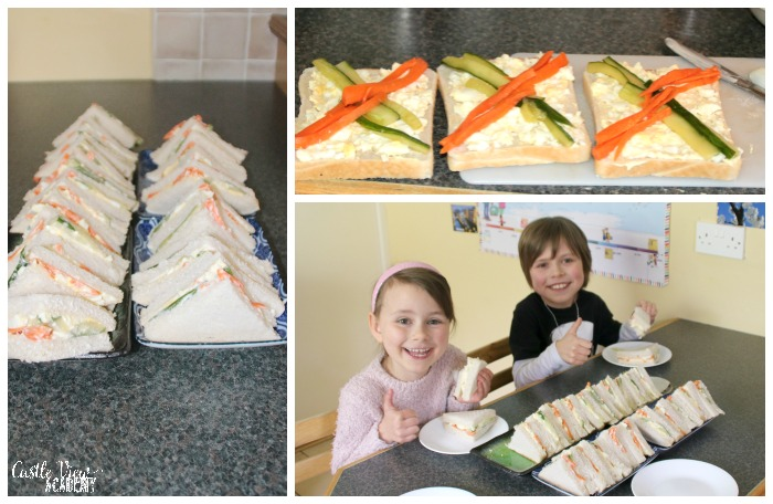 Japanese Egg Salad Sandwiches at Castle View Academy homeschool