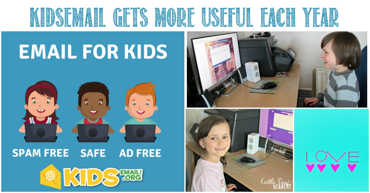 KidsEmail gets more useful each year at Castle View Academy homeschool