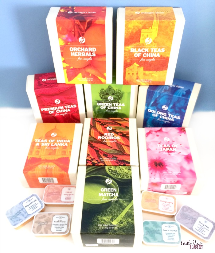 A fabulous selection of teas at Castle View Academy from Adagio