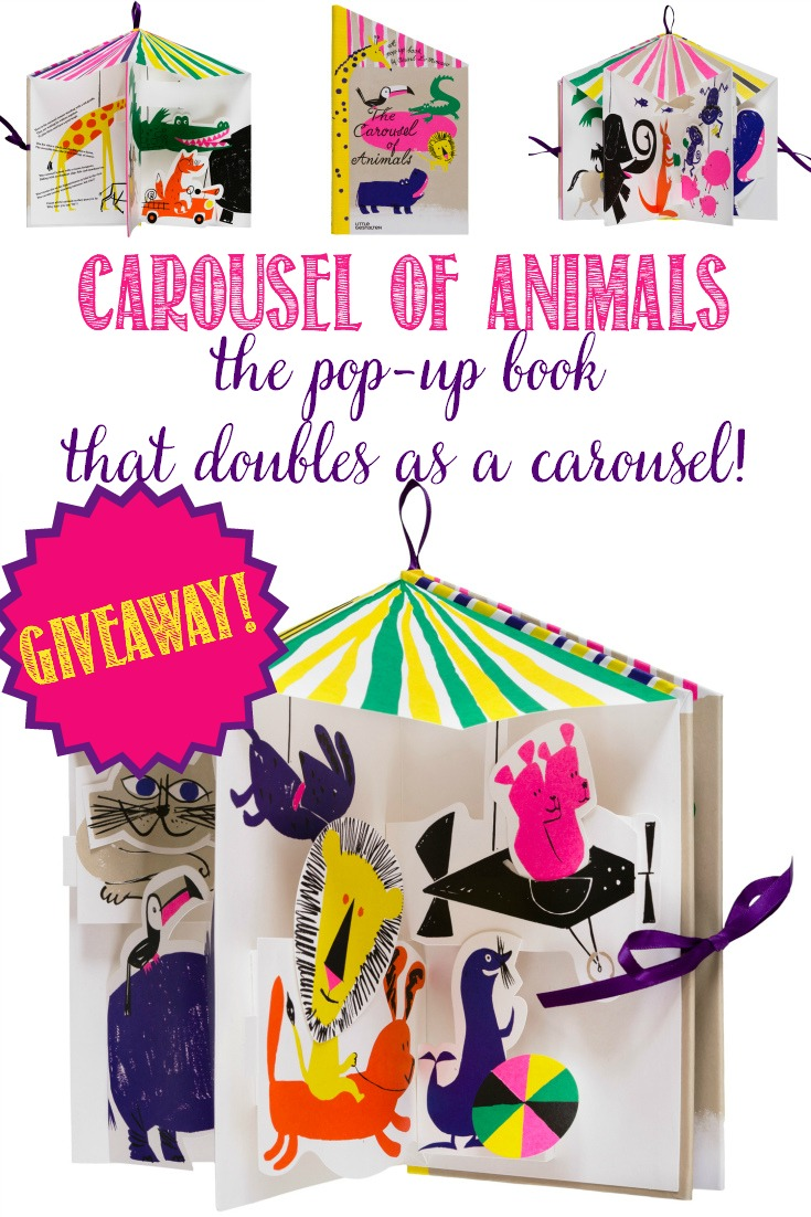 Every now and again a special book comes along and I just can't resist it! The Carousel of Animals is one such 3D pop-up book that turns into a carousel! #giveaway #babybook #nursery
