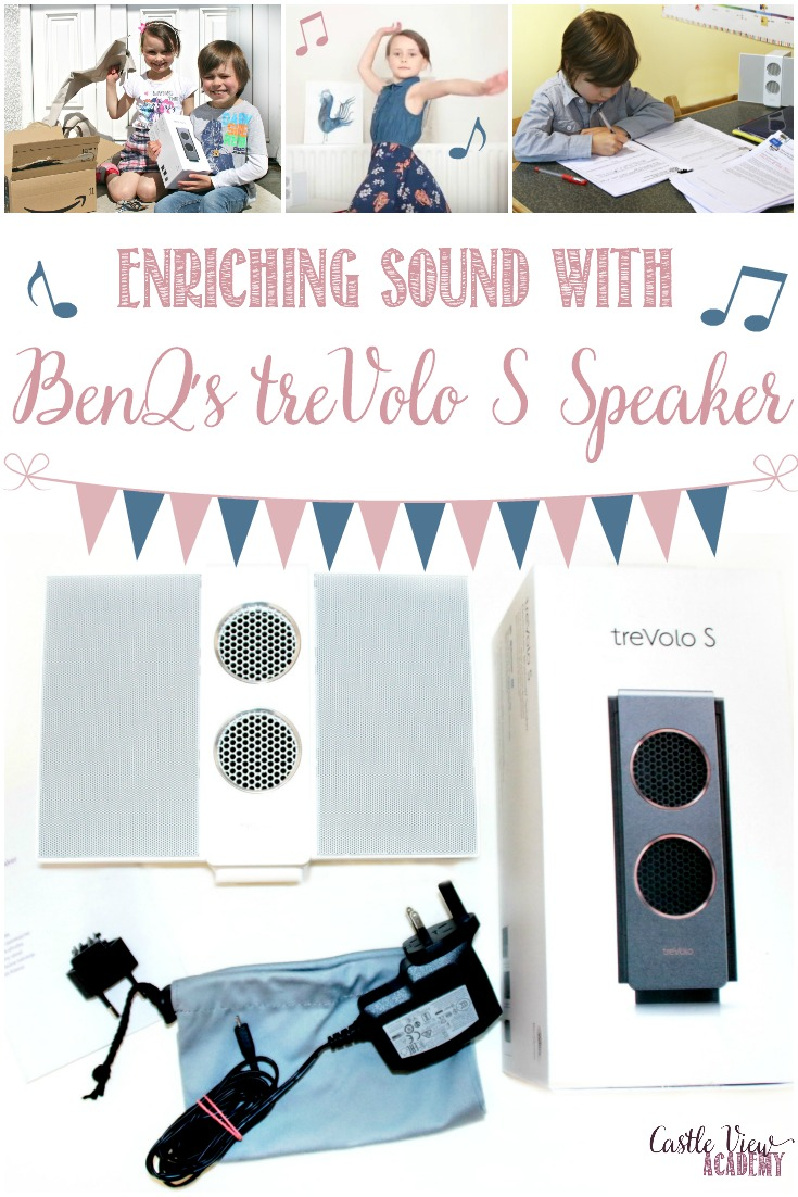 We couldn't live without having some form of music playing in the background; sound is such a part of all our lives and it's even better when it's high quality.  Today we are sharing our review of the BenQ treVolo S speaker #hsreview #homeschool #bluetoothspeaker #BenQ