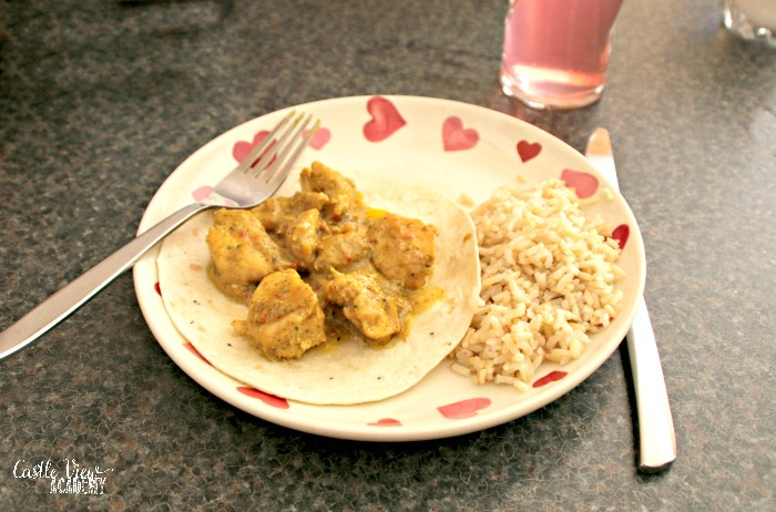 Castle View Academy homeschool has Latin American Kitchen for dinner