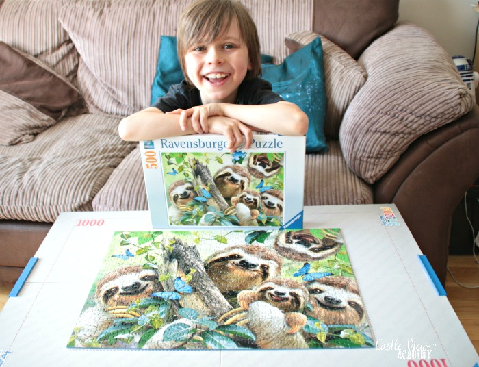 Castle View Academy homeschool has completed the Sloth Selfie puzzle