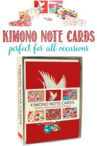 Castle View Academy homeschool reviews Kimono Note Cards by Tuttle Publishing