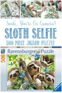 Castle View Academy homeschool reviews Sloth Selve, a puzzle by Ravensburger