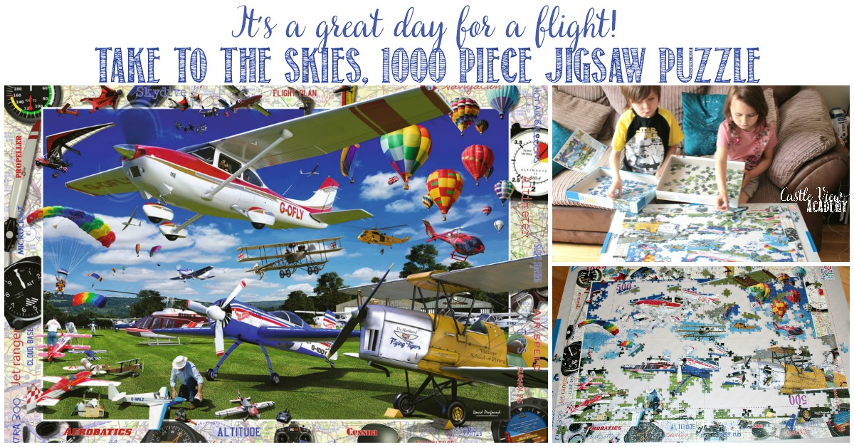 Castle View Academy homeschool reviews Take To The Skies puzzle