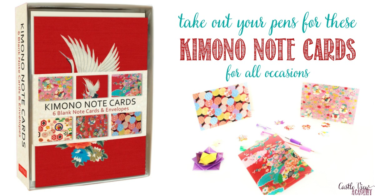 Castle View Academy reviews Kimono Note Cards by Tuttle Publishing