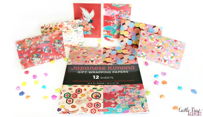 Japanese Kimono note cards and gift wrap at Castle View Academy