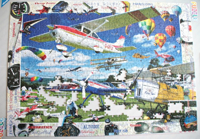 Take To The Skies puzzle is almost complete at Castle View Academy homeschool