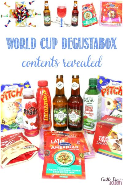 World Cup May Degustabox at Castle View Academy homeschool