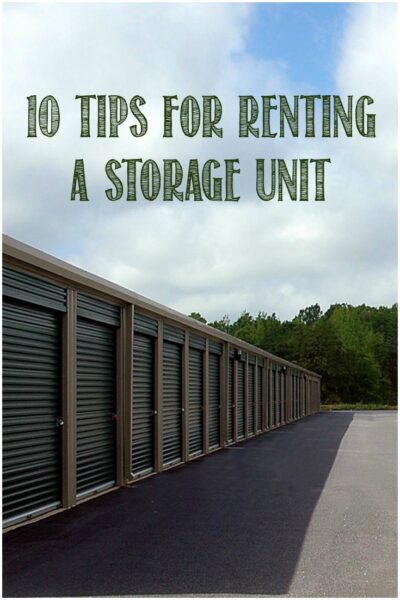 10 Tips For Renting a Storage Unit by Castle View Academy homeschool