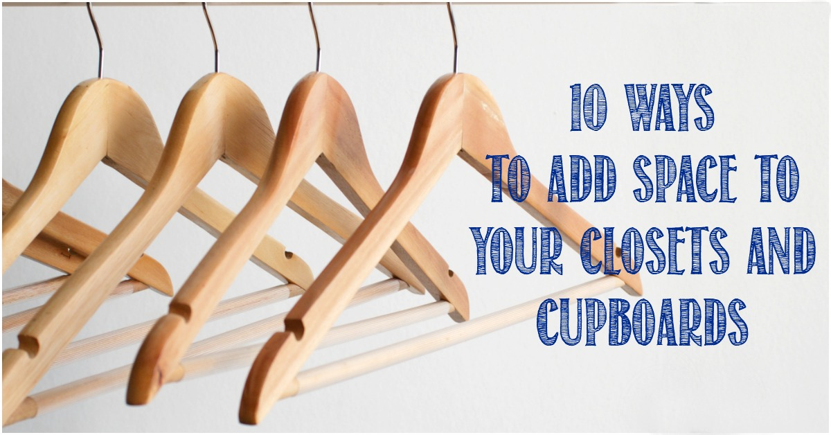 10 ways to add storage pace to closets and cupboards