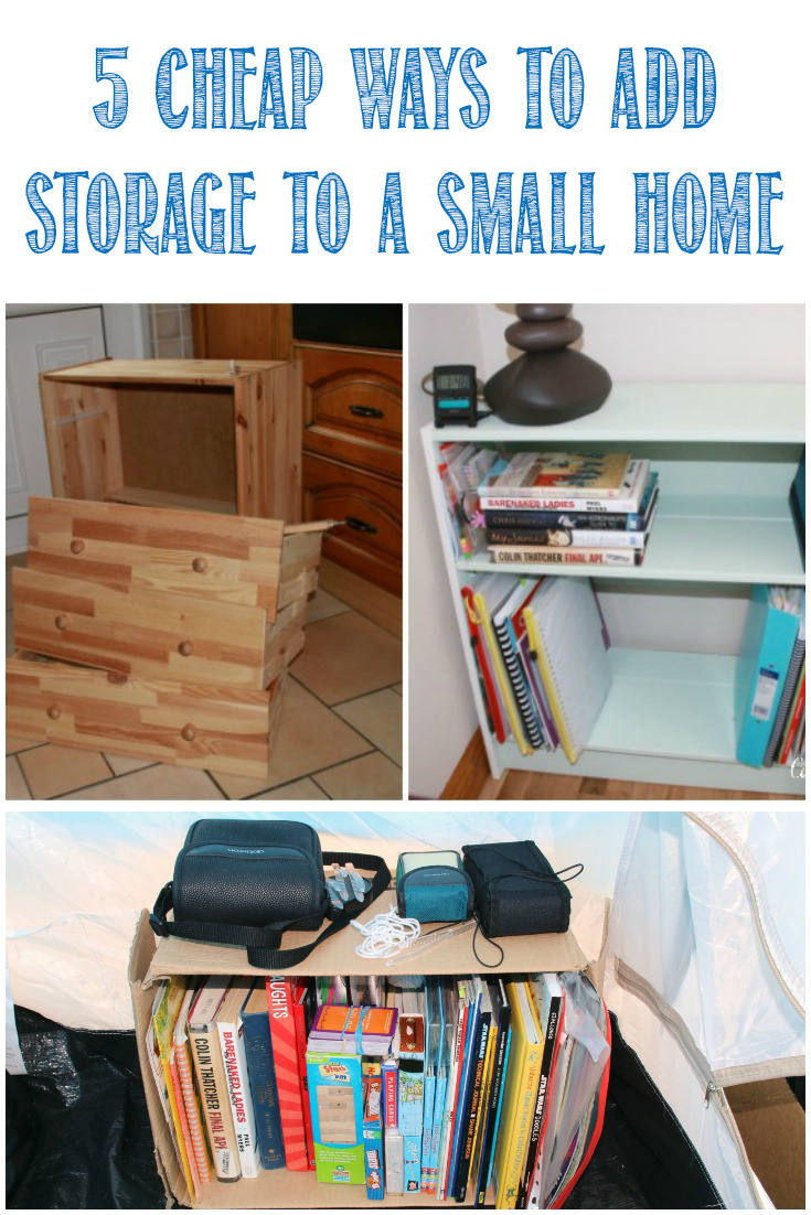 5 Cheap Ways To Add Storage Space To a Small Home