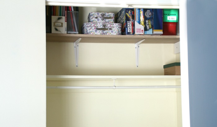 An extra shelf in a closet is always a good thing for Castle View Academy