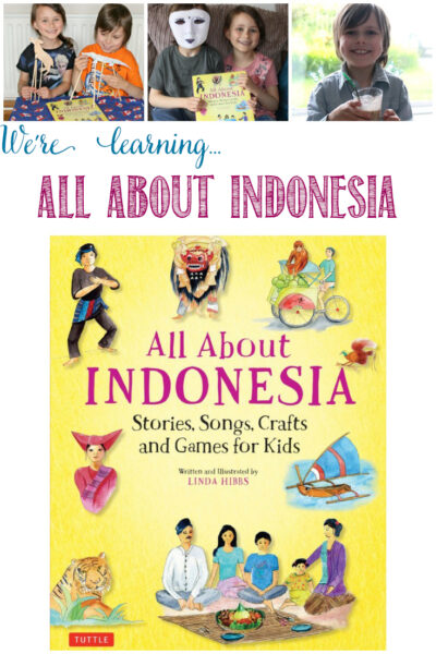 Castle View Academy homeschool learns All About Indonesia