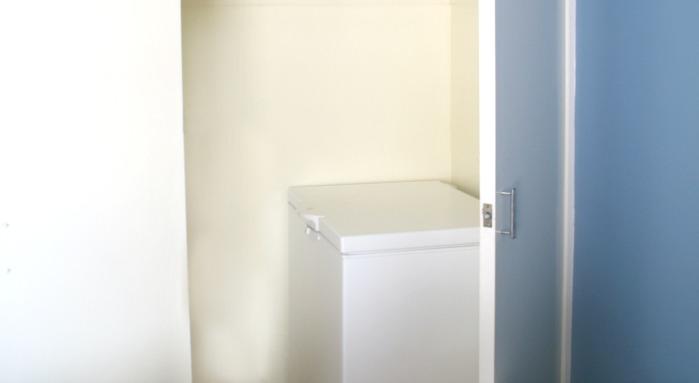 Freezer in closet