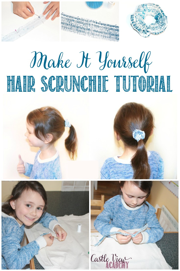 DIY Screen Printed Hair Scrunchie Tutorial