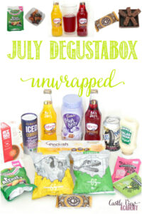 July Degustabox unwrapped at Castle View Academy homeschool