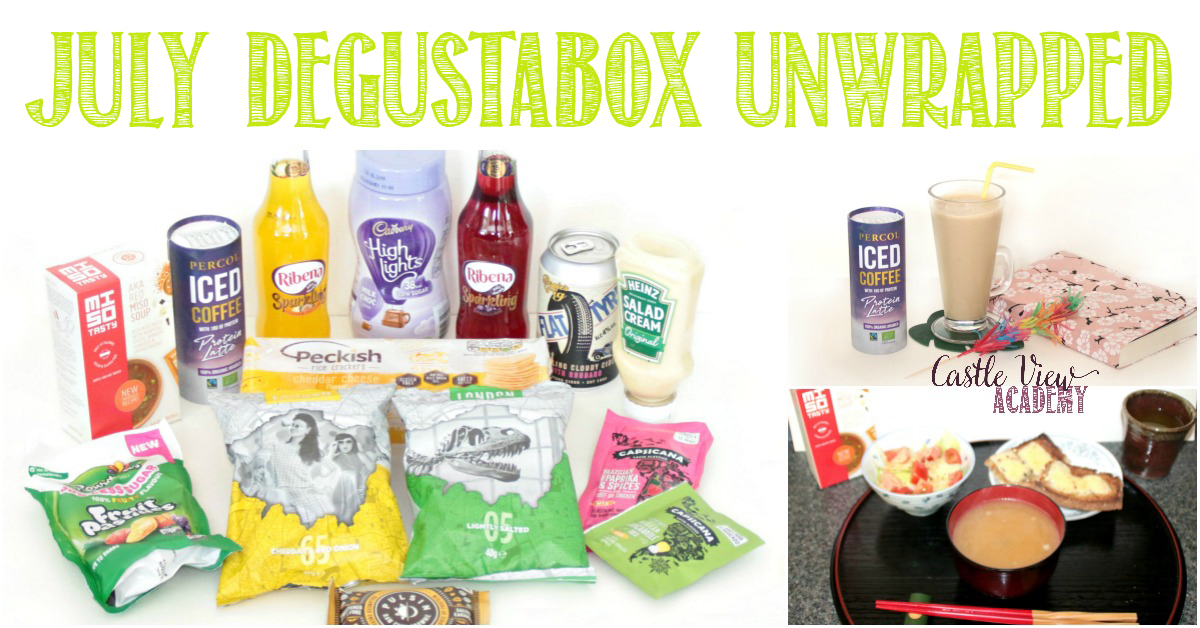 July Degustabox unwrapped at Castle View Academy
